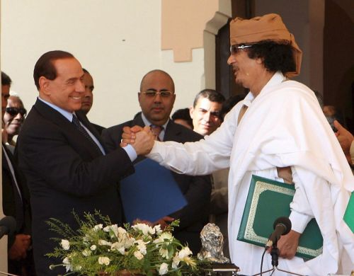 LIBYA ITALY BERLUSCONI GADDAFI